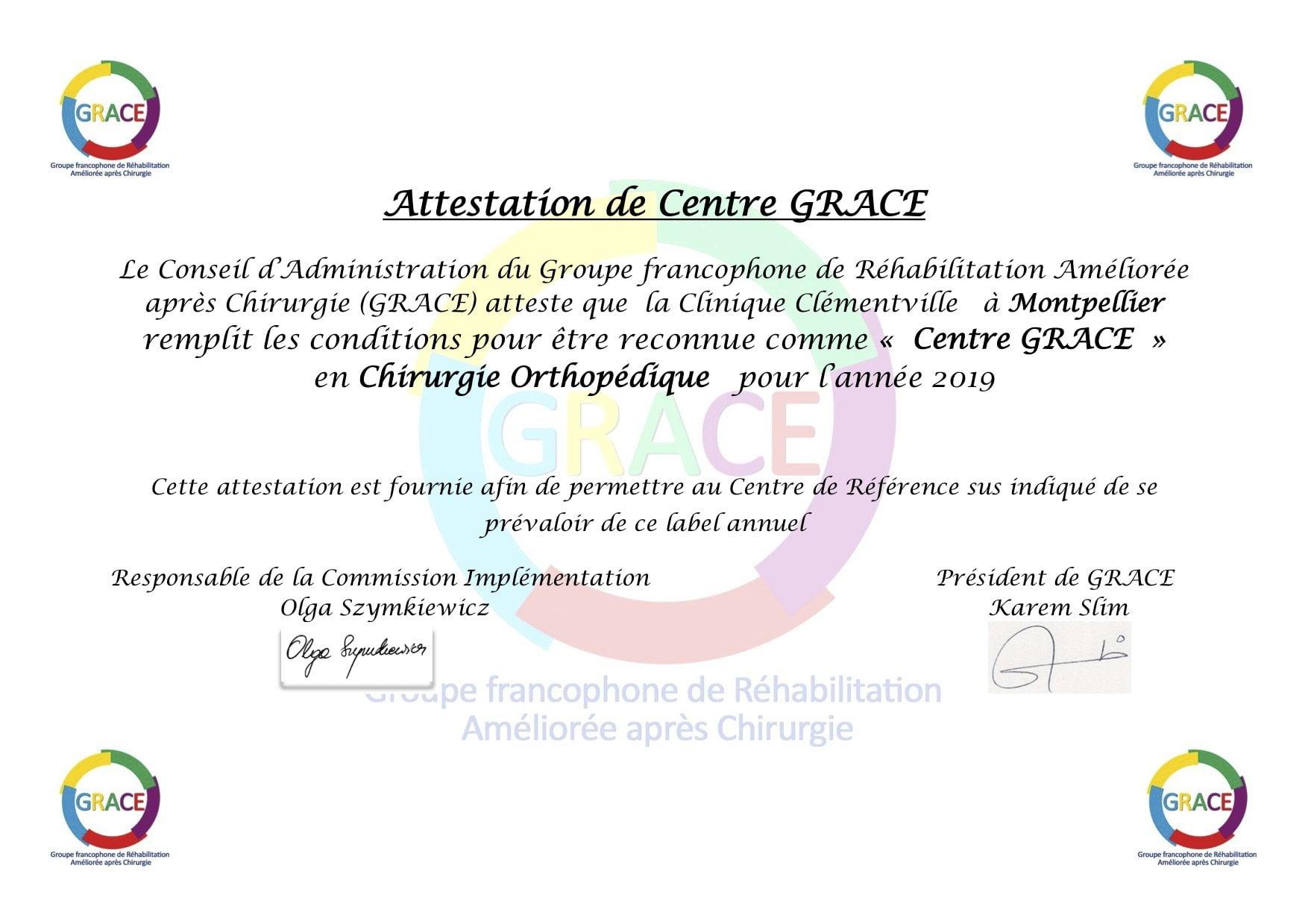 RAC Hanche Genou Montpellier
